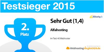 Testsieger 2015 Alfahosting Zusammenfassung